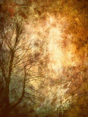 Naklejka Drzewa, abstrakcyjne tło grunge