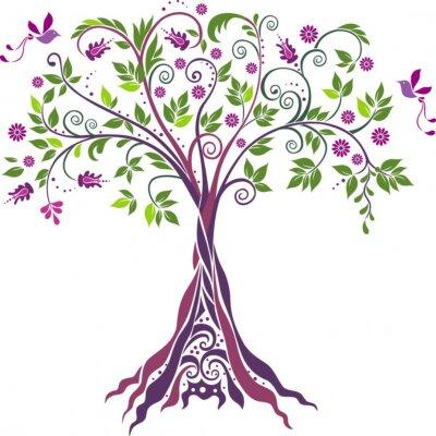Naklejka Drzewo .