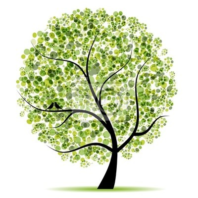 Naklejka Drzewo sztuki piękne projekt