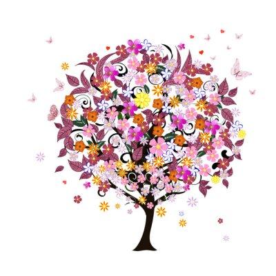Naklejka Drzewo uroczysty romantyczny