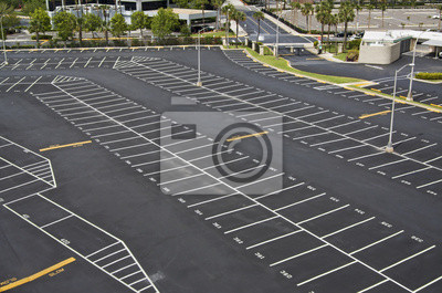Naklejka duży parking