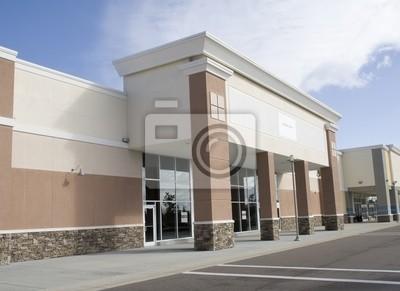Naklejka duży pusty sklep detaliczny