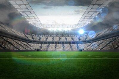 Naklejka Duży stadion piłkarski z oświetleniem