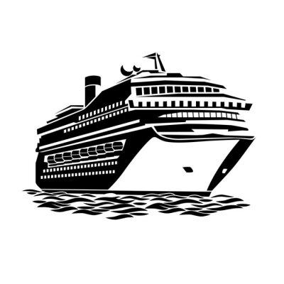 Naklejka duży statek wycieczkowy