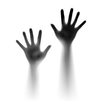 Naklejka Dwa otwarte dłonie