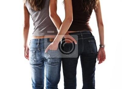 Naklejka dwie sexy girl friend