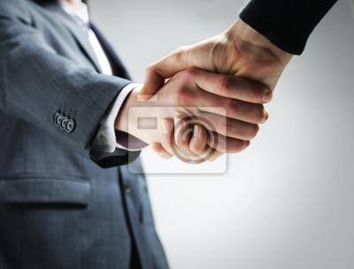 Naklejka Dwóch biznesmenów wstrząsając ręce.