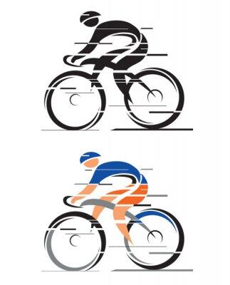 Naklejka Dwóch kolarzy