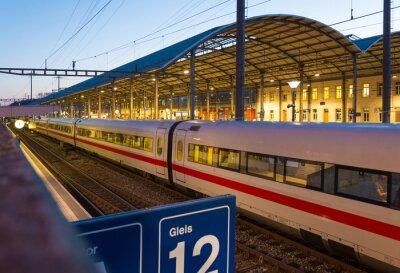 Naklejka Dworzec kolejowy i