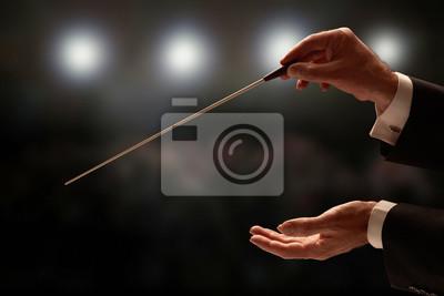 Naklejka Dyrygent prowadzący orkiestrę