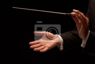 Naklejka Dyrygent prowadzeniu orkiestry