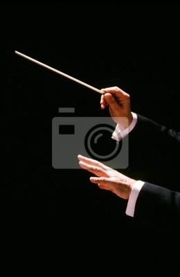 Naklejka dyrygent z batutą