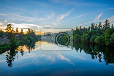 Naklejka Dziewięć mil na zbiorniku rzeka rzeka o zachodzie słońca