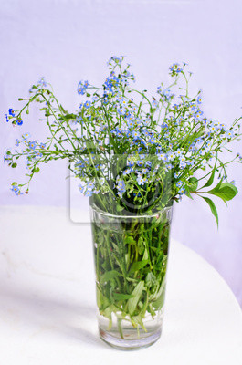 Naklejka dzikie kwiaty w szkle