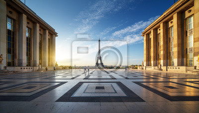 Naklejka Early morning view of Eiffel Tower, Paris, France