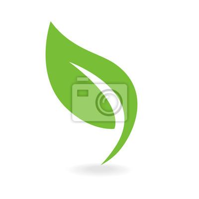 Naklejka Eco ikony zielony liść