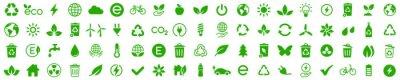 Naklejka Ecology icons set. Nature icon. Eco green icons. Vector