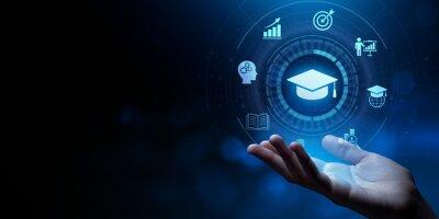 Naklejka Education Distance E-learning Online Learning Personal development concept