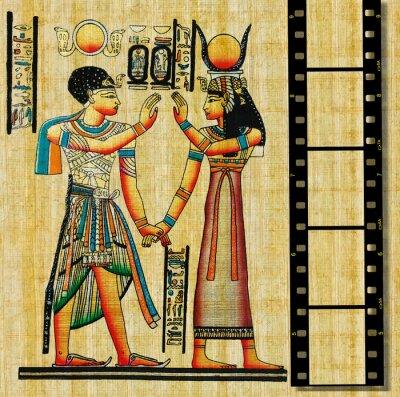 Naklejka Egipcjanin tło z taśmy filmowej