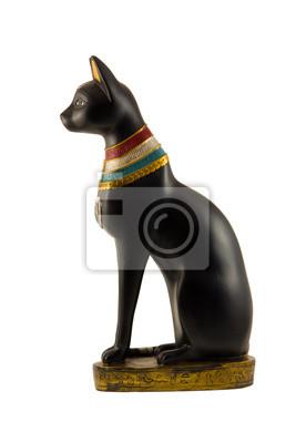 Naklejka Egipski Posąg Kota Na Wymiar Czarny Historia łaska