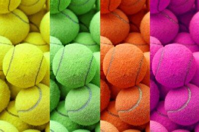 Naklejka egzotyczny kolor piłki tenisowe