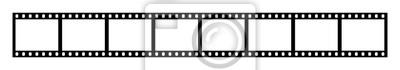 Naklejka Eight empty frames of 35 mm film strip