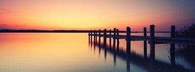 Naklejka einsamer Steg am See