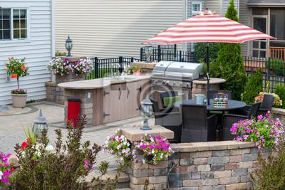 Naklejka Ekskluzywne patio z miejscem do gotowania