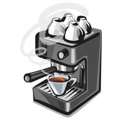 Naklejka ekspres do kawy