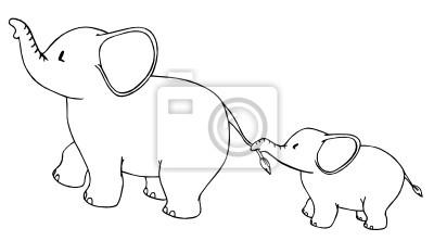 Naklejka Znęcanie Się Lęk Fobia Mysz Słoń Gniew