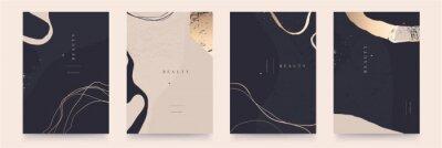 Naklejka Elegant abstract trendy universal background templates. Minimalist aesthetic.