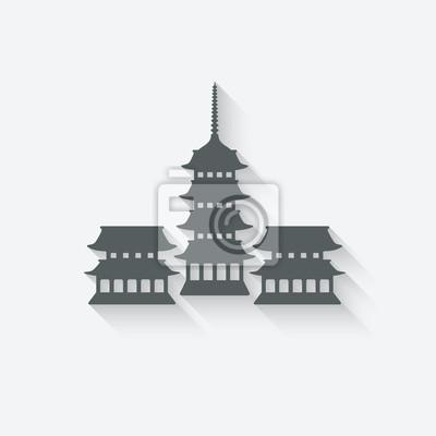 Naklejka Element projektu świątynia buddyjska