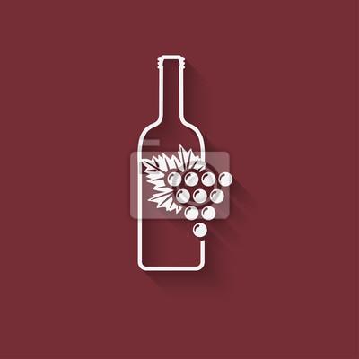 Naklejka element projektu winogron wino