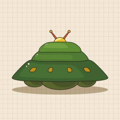 Naklejka elementy tematyczne ufo