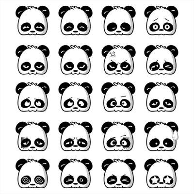Naklejka Emoticon Panda