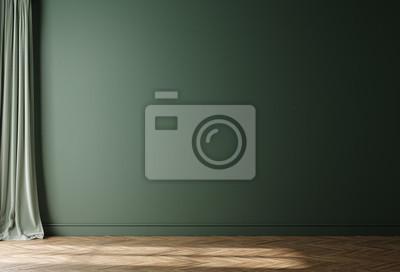 Naklejka Empty home interior wall mock-up, 3d render