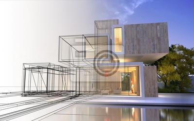 Naklejka Etapy projektu architektury