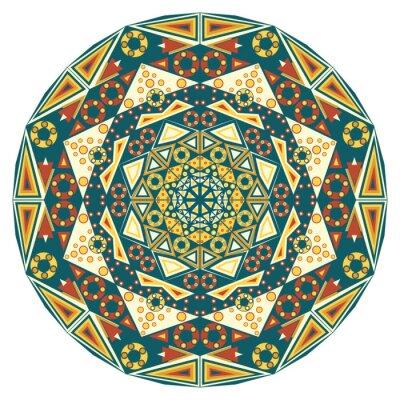 Naklejka Etniczny wzór okrągły