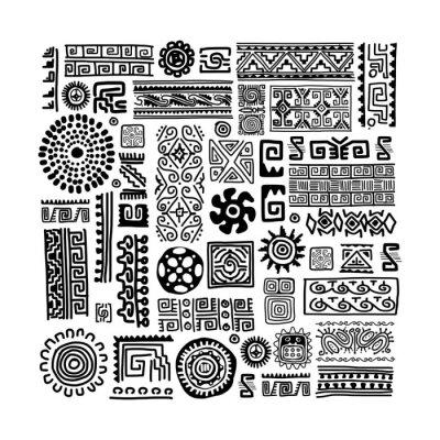 Naklejka Etnicznych handmade ozdoba dla projektu