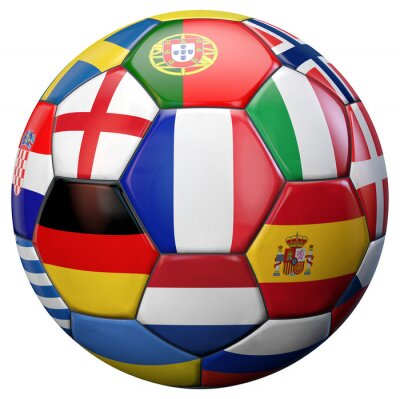 Naklejka Europy w piłce nożnej