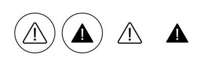 Naklejka Exclamation danger sign. attention sign icon set. Hazard warning attention sign
