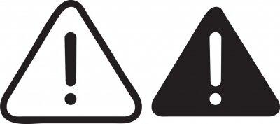 Naklejka  Exclamation sign. Caution, warning icon symbol illustrator.eps