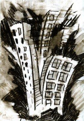 Naklejka Expressional miasto