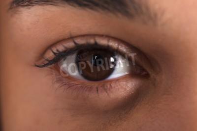 Naklejka Extreme Close-up Photo Of African Woman's Eye