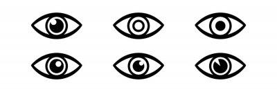 Naklejka Eye icon vector.
