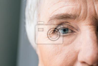 Naklejka Face of elderly woman, closeup