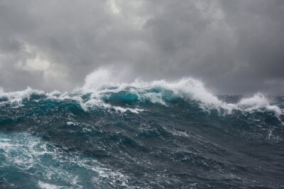 Naklejka Fala morze podczas sztormu na Oceanie Atlantyckim