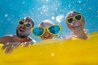 Naklejka Family having fun on summer vacation