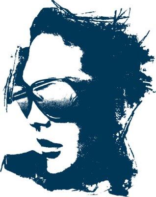 Naklejka Fancy Ilustracja Kobieta