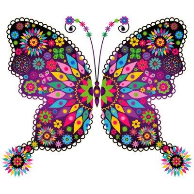 Naklejka Fantasy, żywy, vintage, butterfly